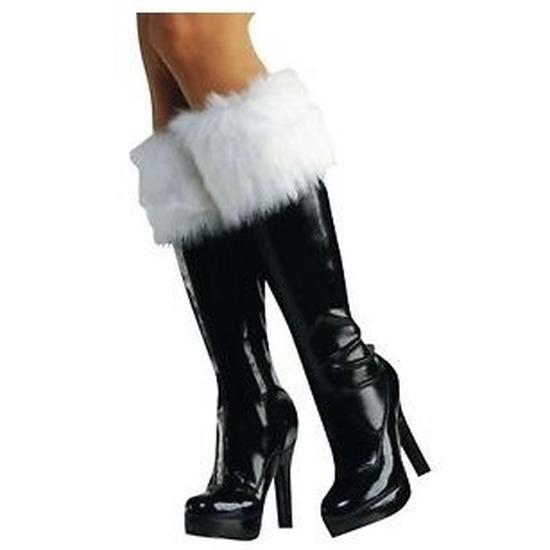 2x Kerstvrouw laarzen bontrandje
