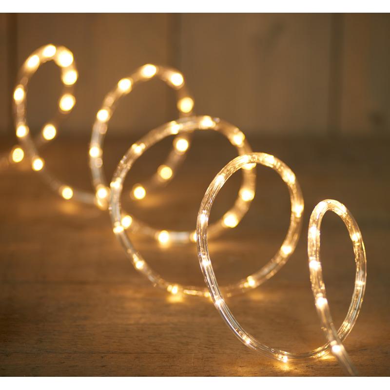 2x Lichtslang 144 warm witte lampjes 6 meter feestverlichting