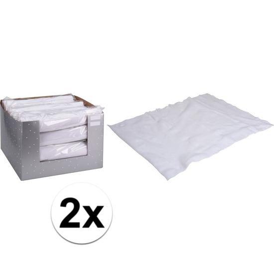2x Sneeuwdeken op rol 37 x 270 cm