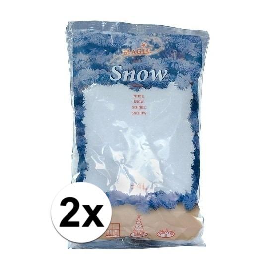 2x zakken Kunstsneeuw van 4 liter per stuk