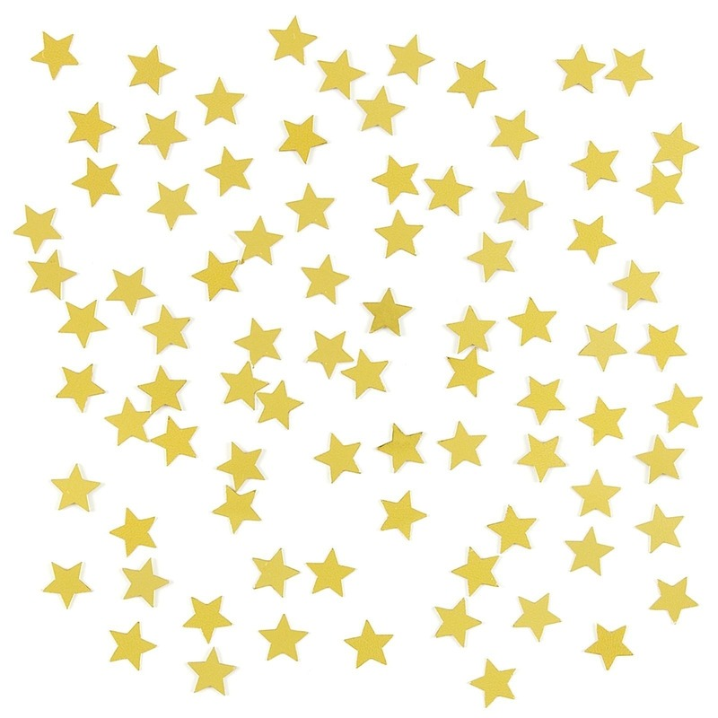 3 x stuks gouden sterren confetti zakjes 15 gram