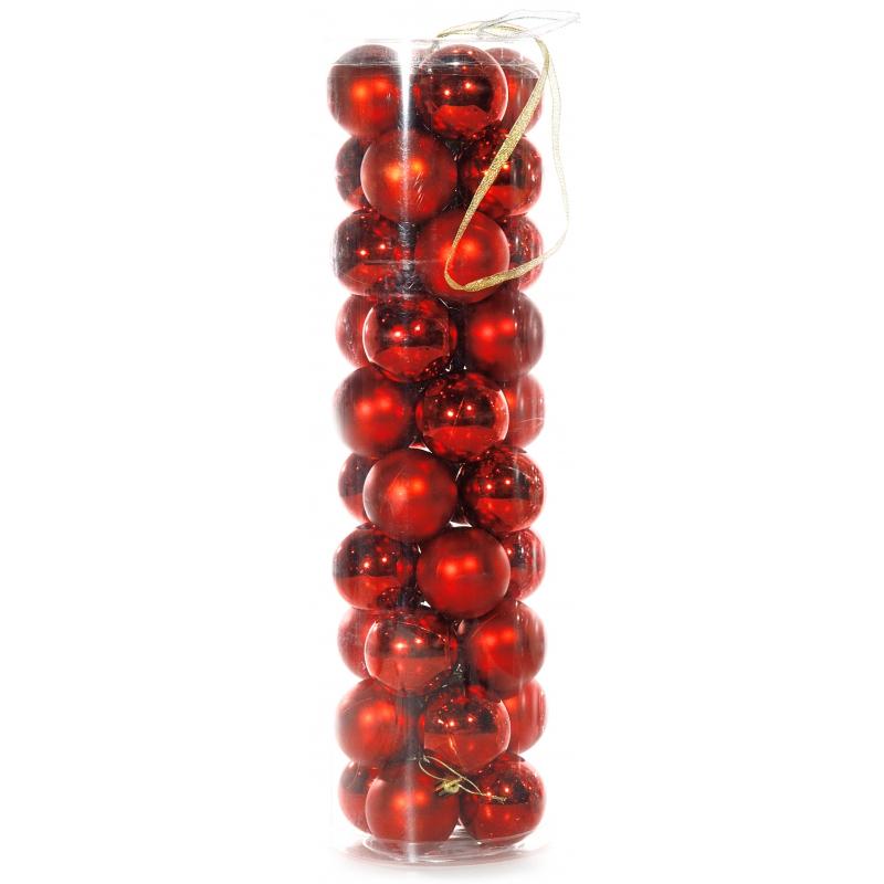 40 Rode Kerstballen Van Plastic Voor Kerst Bestellen Kerst