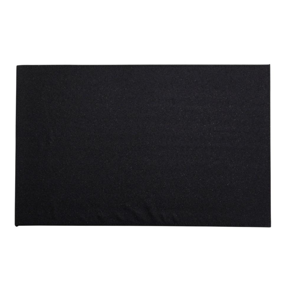 4x Rechthoekige glitter placemats/onderleggers zwart 44 x 29 cm