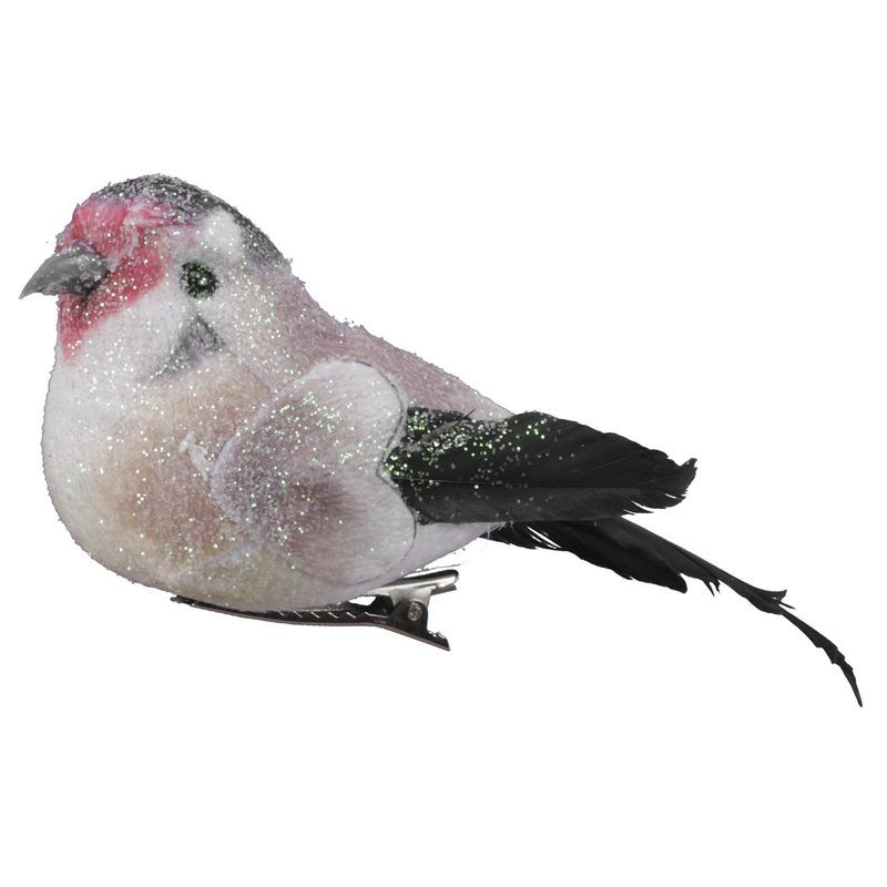 6x Decoratie vogels/vogeltjes op clip 12 cm