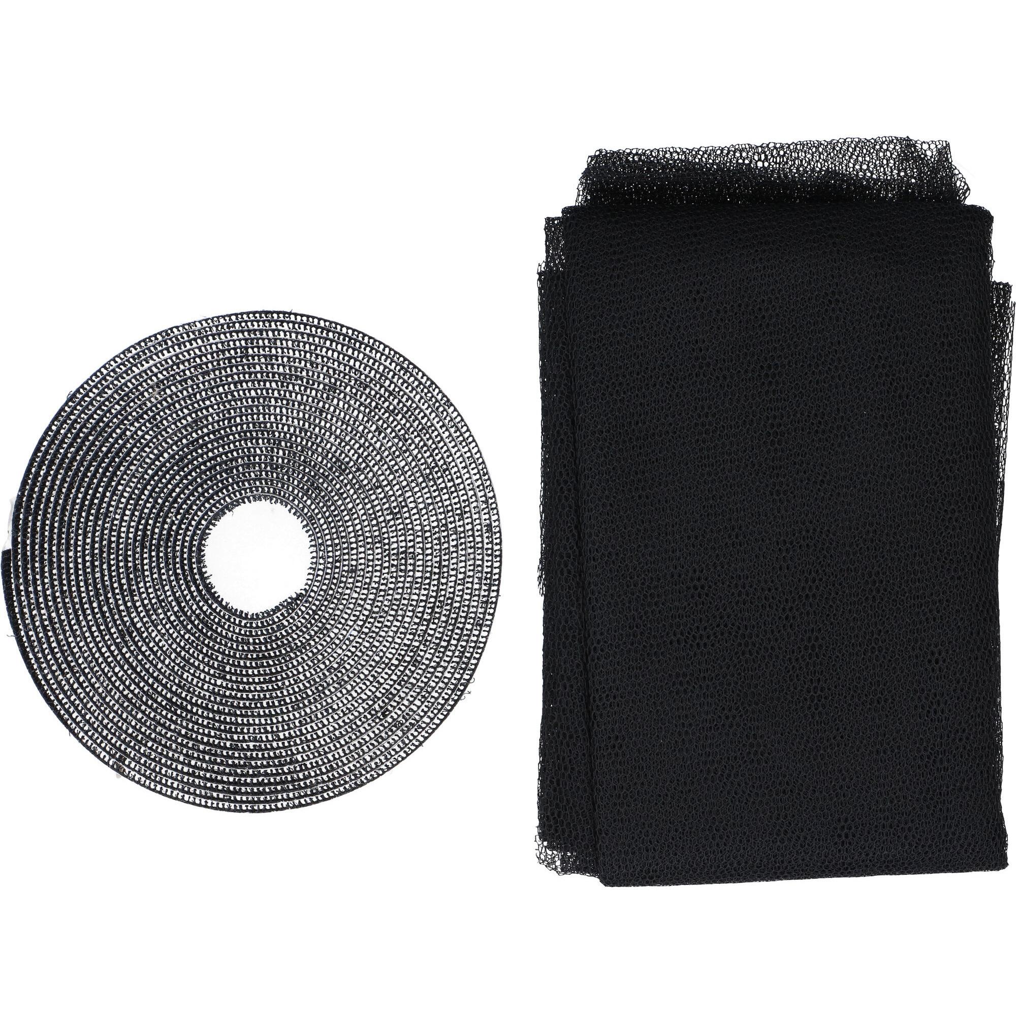 6x Opzet hor zwart 150 x 130 cm
