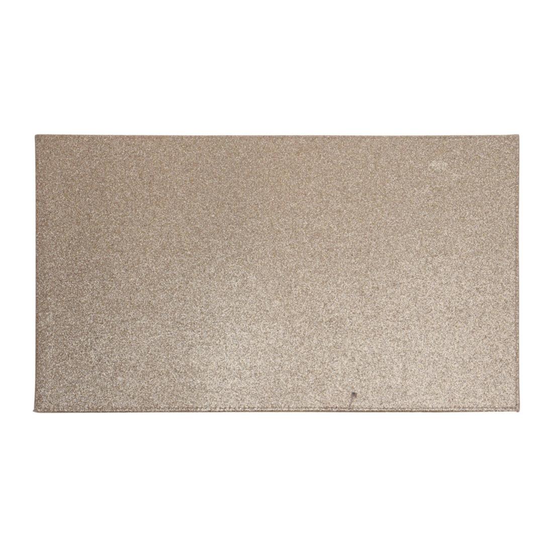 6x Rechthoekige glitter placemats/onderleggers bruin/goud 44 x 29 cm