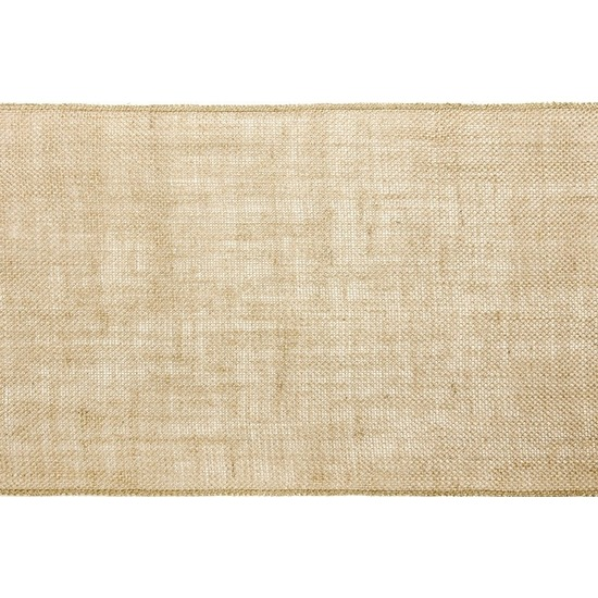 Bruiloft/huwelijk jute tafelloper/placemats 28 x 500 cm