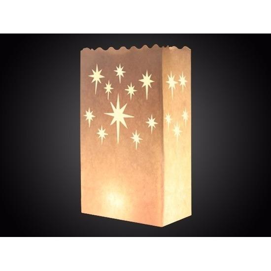 Candle bag sterren print 26 cm