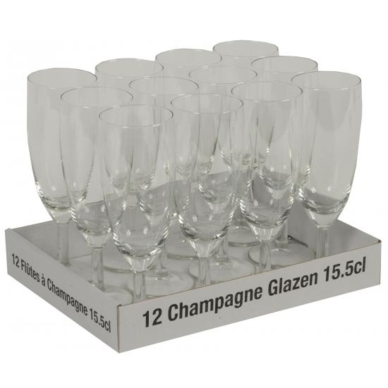 Champagne glazen 12 stuks 10 + 2 gratis