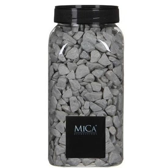 Decoratie/hobby stenen grijs 1 kg