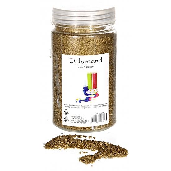 Decoratie korrelzand goud 500 gram