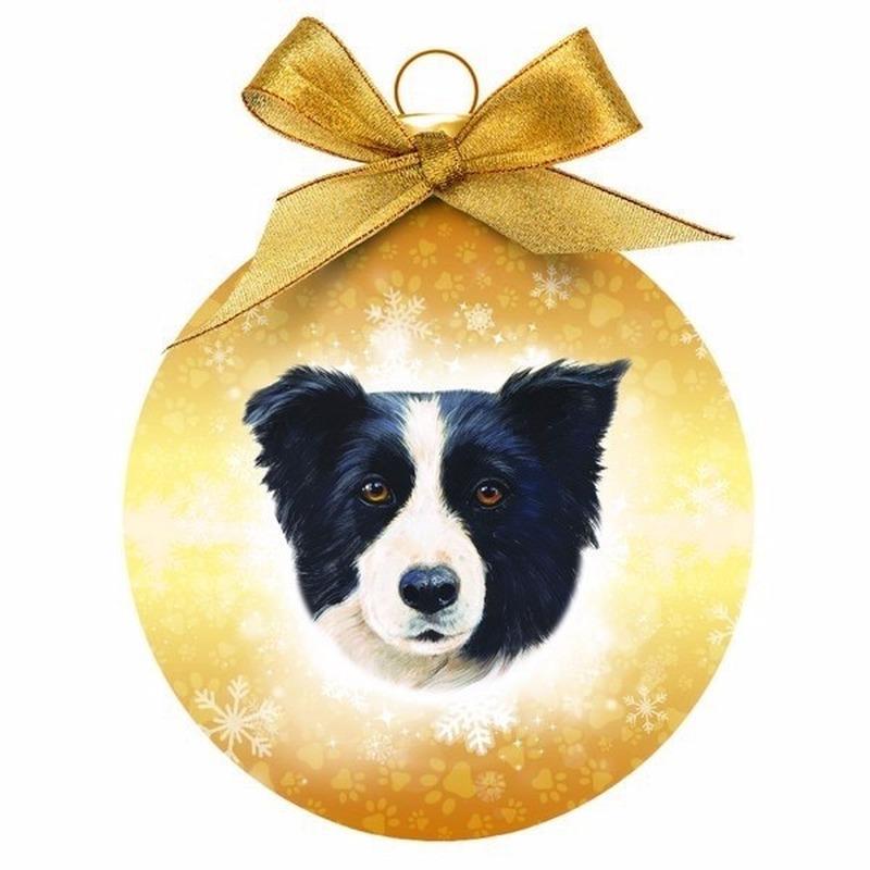 Dieren/huisdieren kerstballen Border Collie hond 8 cm