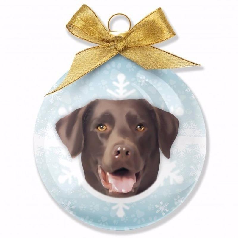 Dieren/huisdieren kerstballen bruine Labrador honden 8 cm