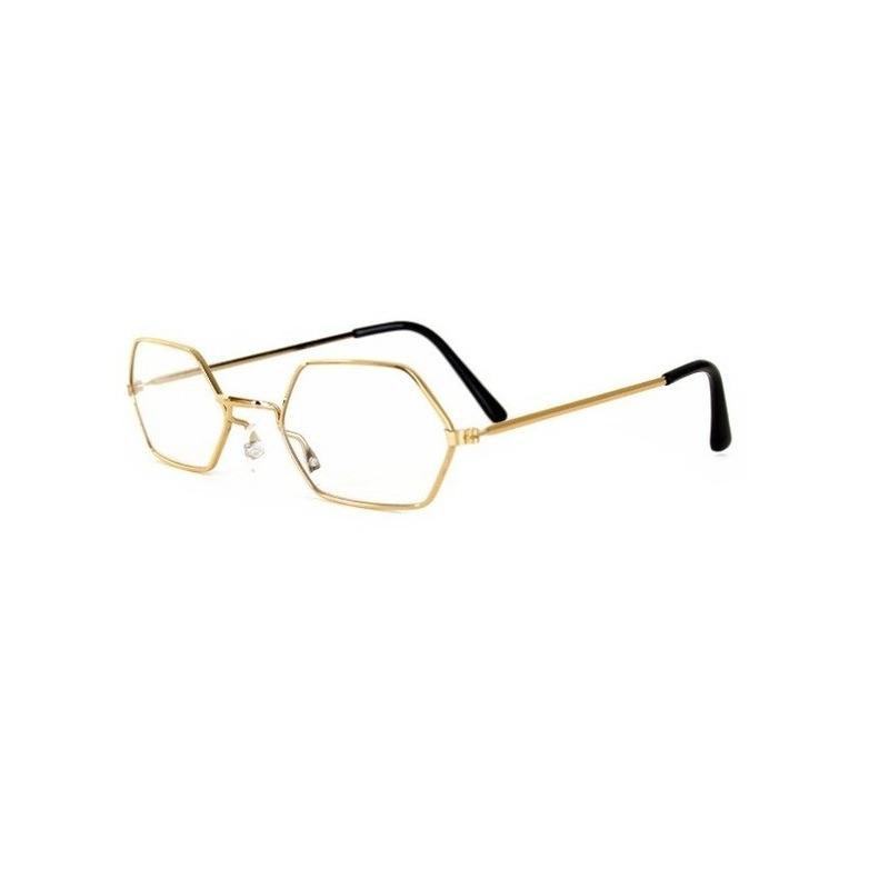 Feest leesbril goud montuur