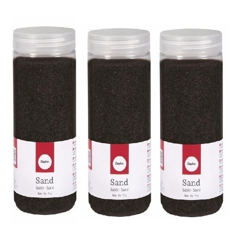 Fijn decoratie zand zwart 1425 ml