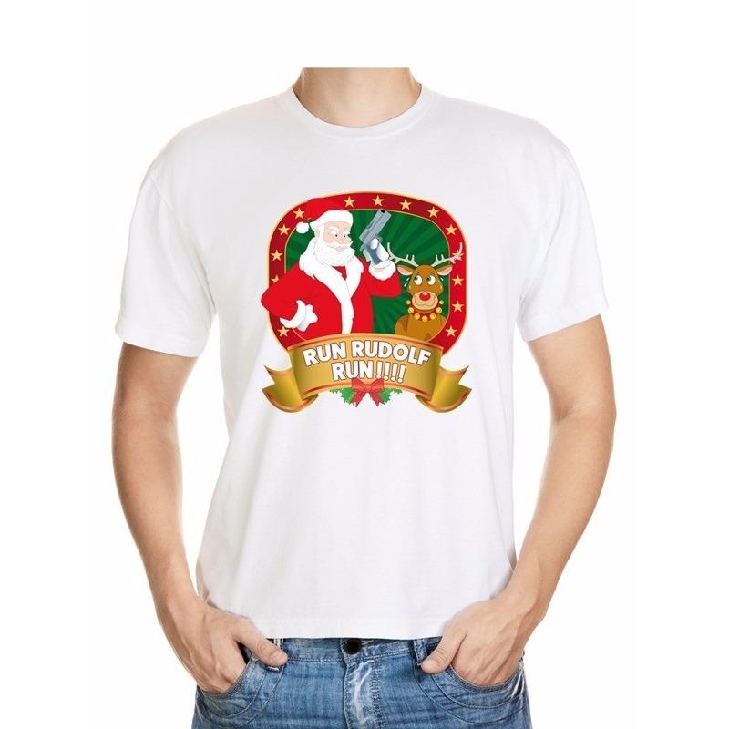 Foute Kerst t-shirt Run Rudolf voor heren