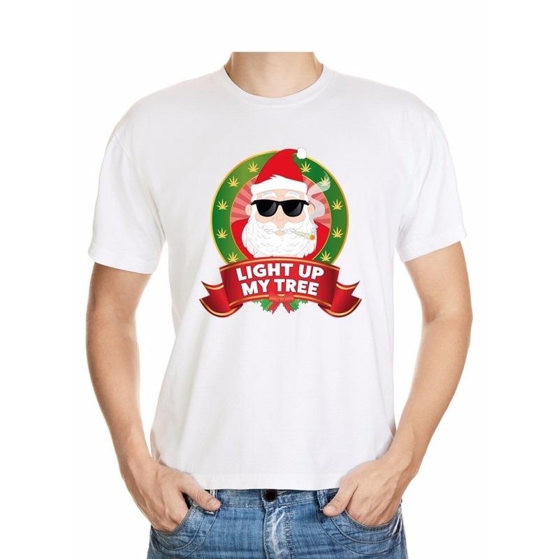 Foute Kerst t-shirt stoned Kerstman voor heren