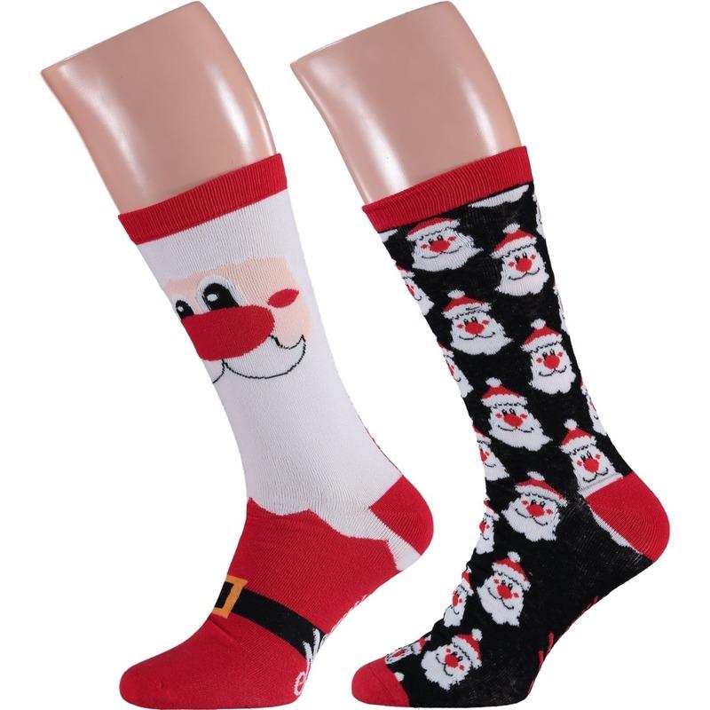 Foute kerstman kerstsokken 2-pak voor heren