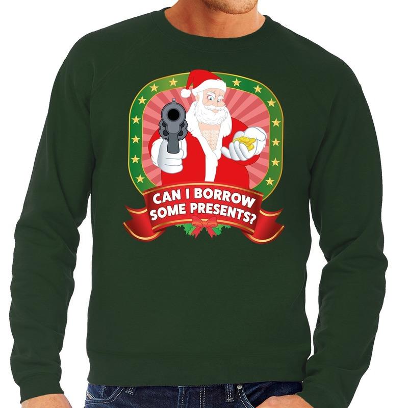 Foute kersttrui groen Can I Borrow Some Presents voor heren