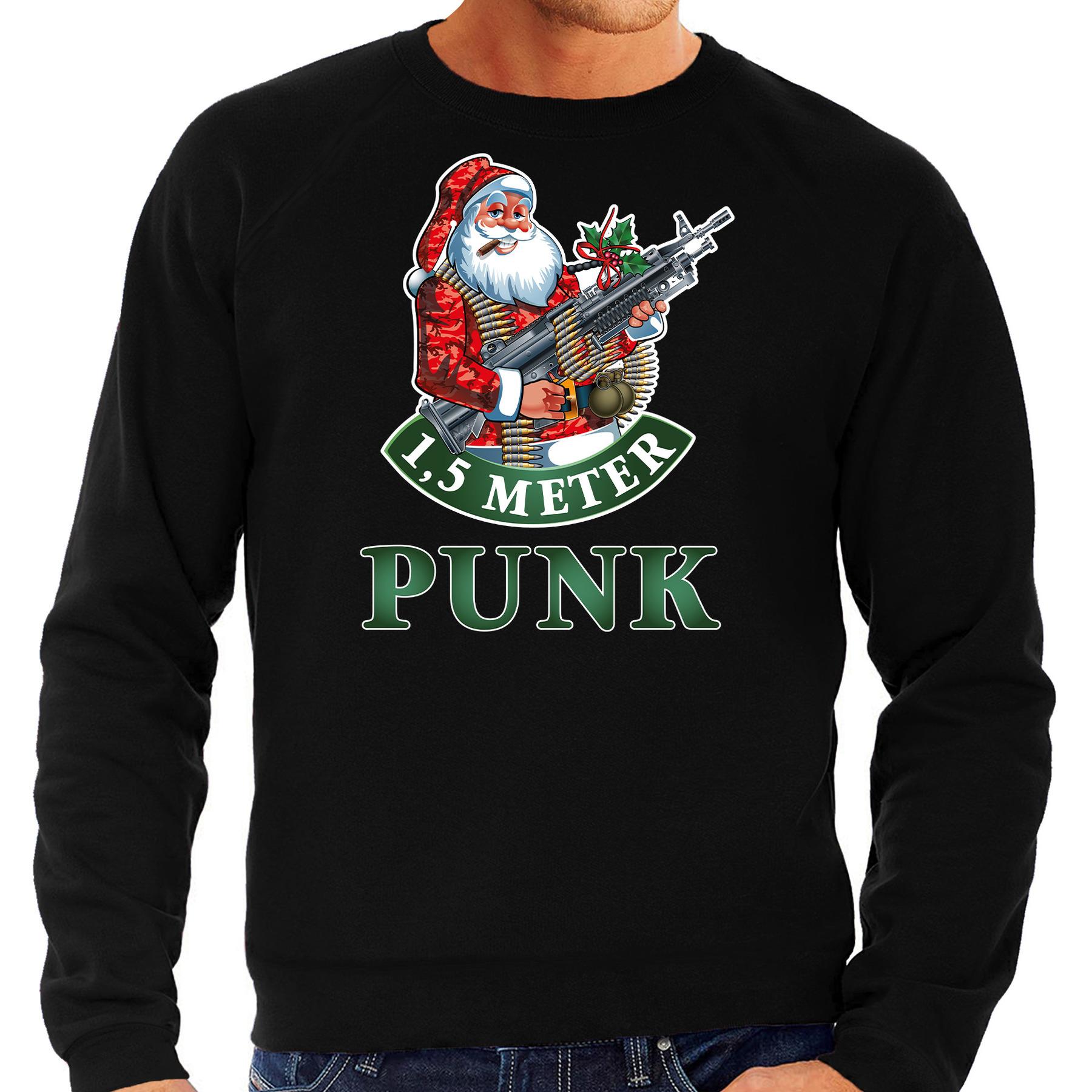 Foute Kersttrui - outfit 1,5 meter punk zwart voor heren