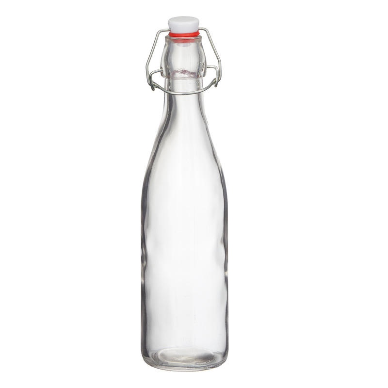 Glazen weck fles met beugeldop 500 ml