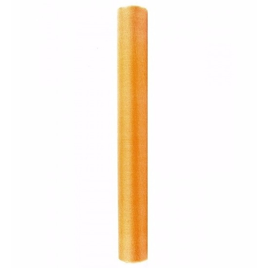Gouden glans organza deco stof 36 cm x 9 meter