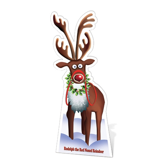 Groot decoratie bord rendier Rudolph