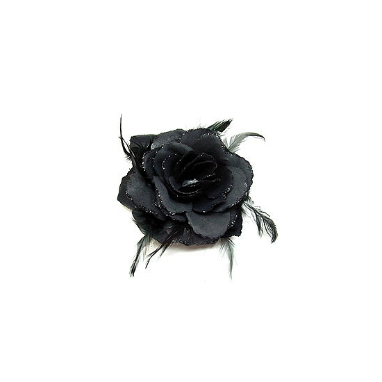 Haarbloem zwarte roos