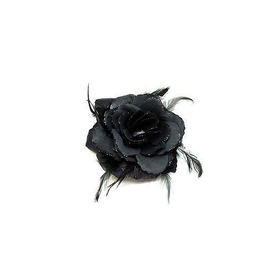Haarbloemen zwarte roos