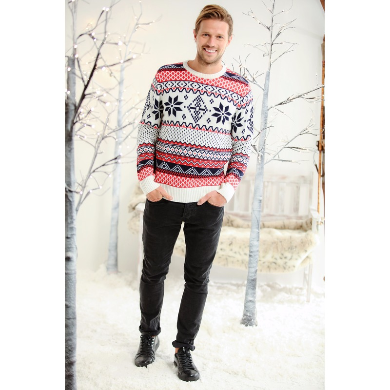 cef2df1e9ac Heren kersttrui met Noorse print voor kerst bestellen, Kerst ...