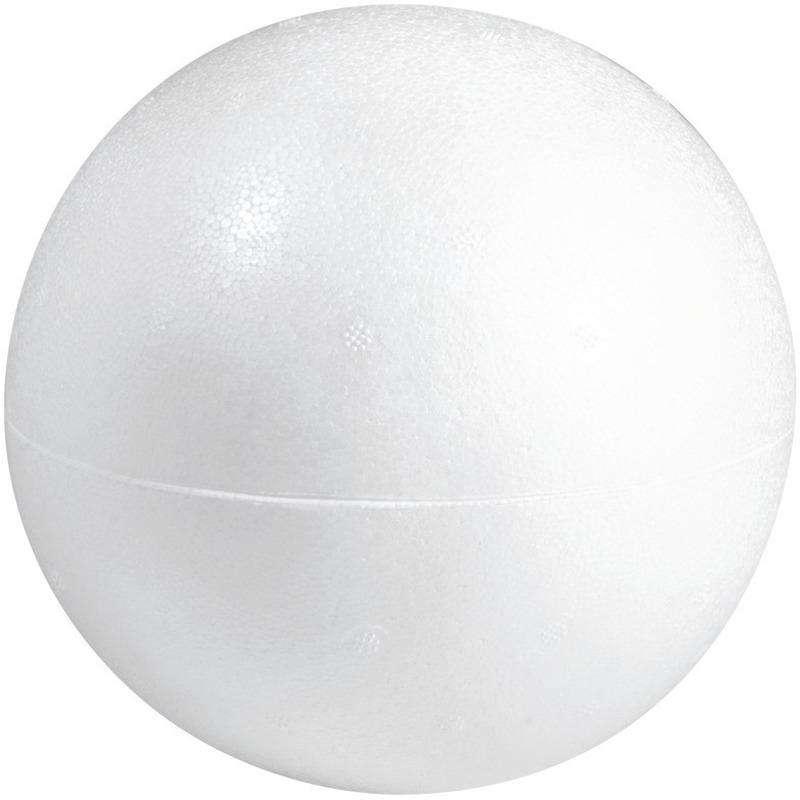 Hobby/DIY holle piepschuim bal/bol 20 cm halve schalen
