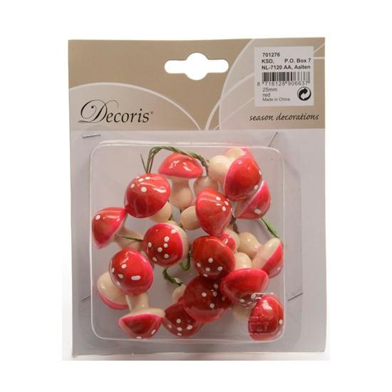 Insteek paddenstoelen 2,5 cm 20 stuks