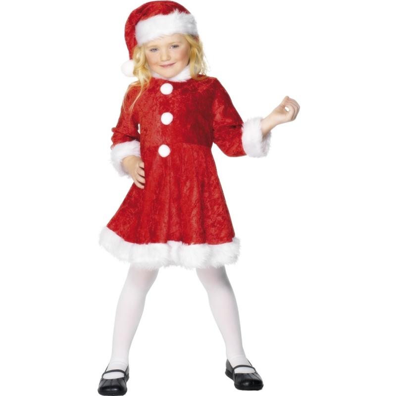 Kerst jurkje met muts voor meisjes