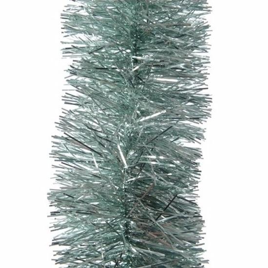 Kerst mintgroene folieslinger 270 cm
