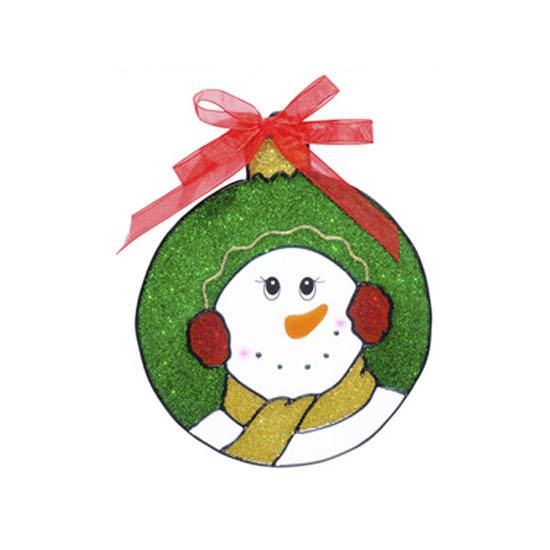 Kerst raamstickers-raamdecoratie sneeuwpop plaatjes 18 cm