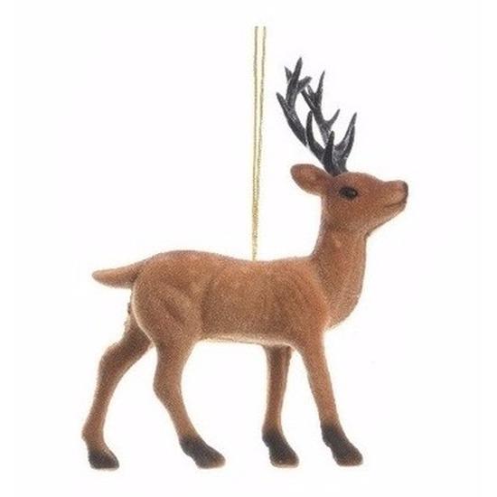 Kerstboom decoratie rendier hanger 13 cm type 1