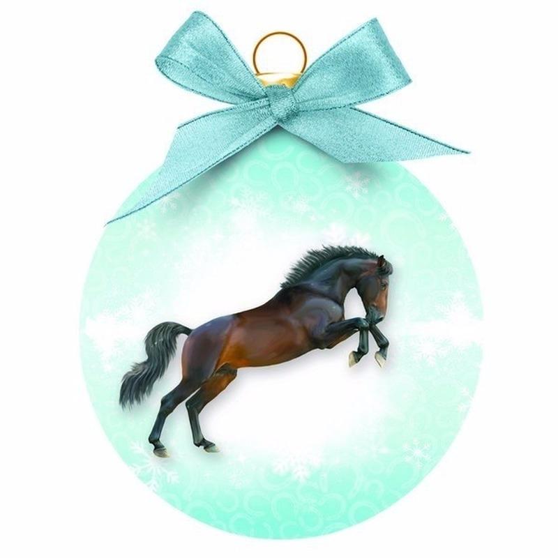 Kerstboomversiering dieren kerstballen paard 8 cm