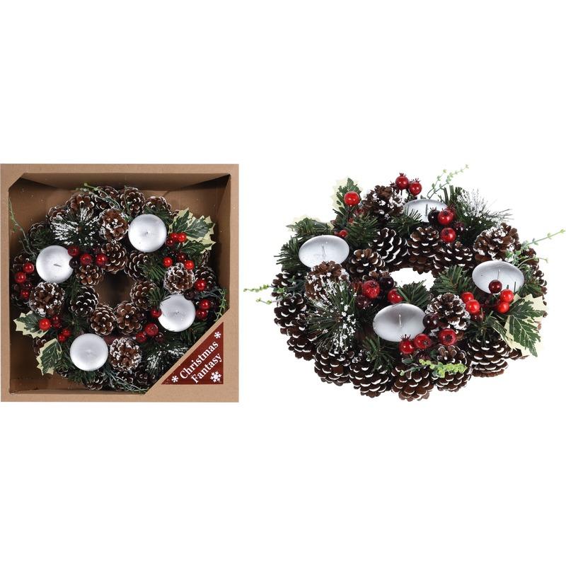 Kerstkrans met decoratie 30,5 cm