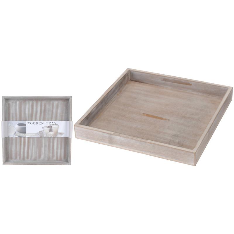 Kerststukje maken houten onderbord 30 cm vierkant