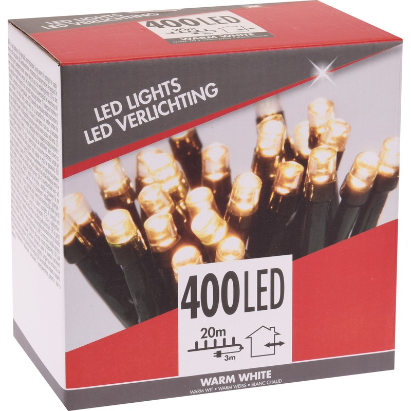 Kerstverlichting budget warm wit buiten 400 lampjes