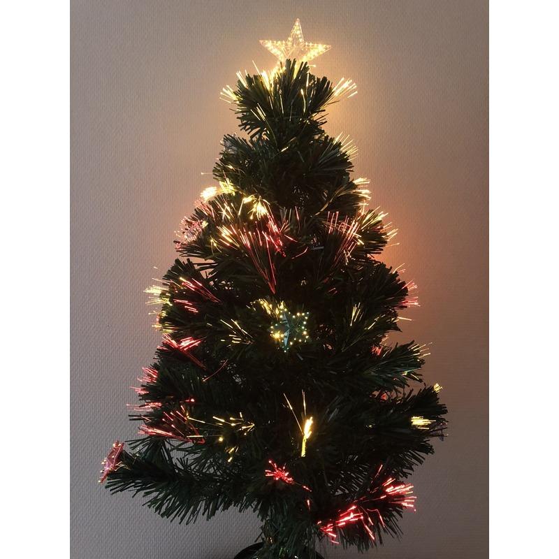 Kleine Kunst Kerstboom Met Verlichting En Versiering 90 Cm Voor