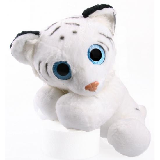 fc06ae52e057d3 Knuffel tijger wit met glitter ogen 40 cm voor kerst bestellen ...