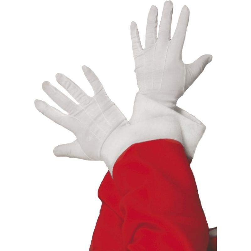 Korte witte handschoenen