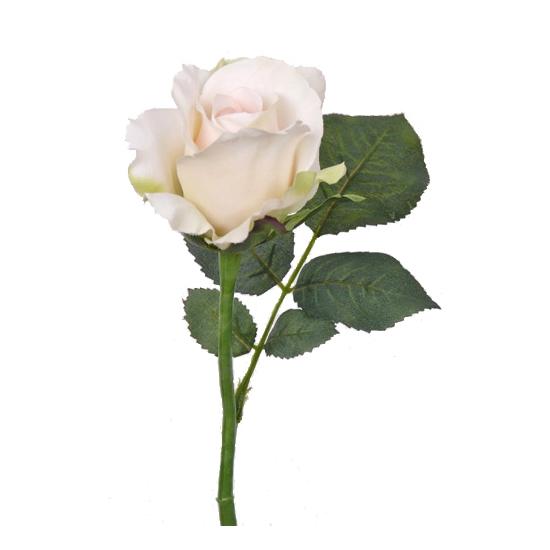 Kunst roos Alice zalm wit 30 cm