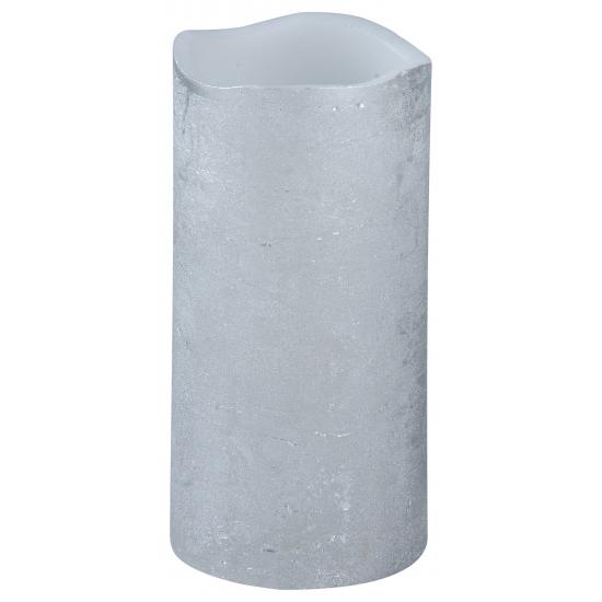 LED kaars/stompkaars zilver 15 cm