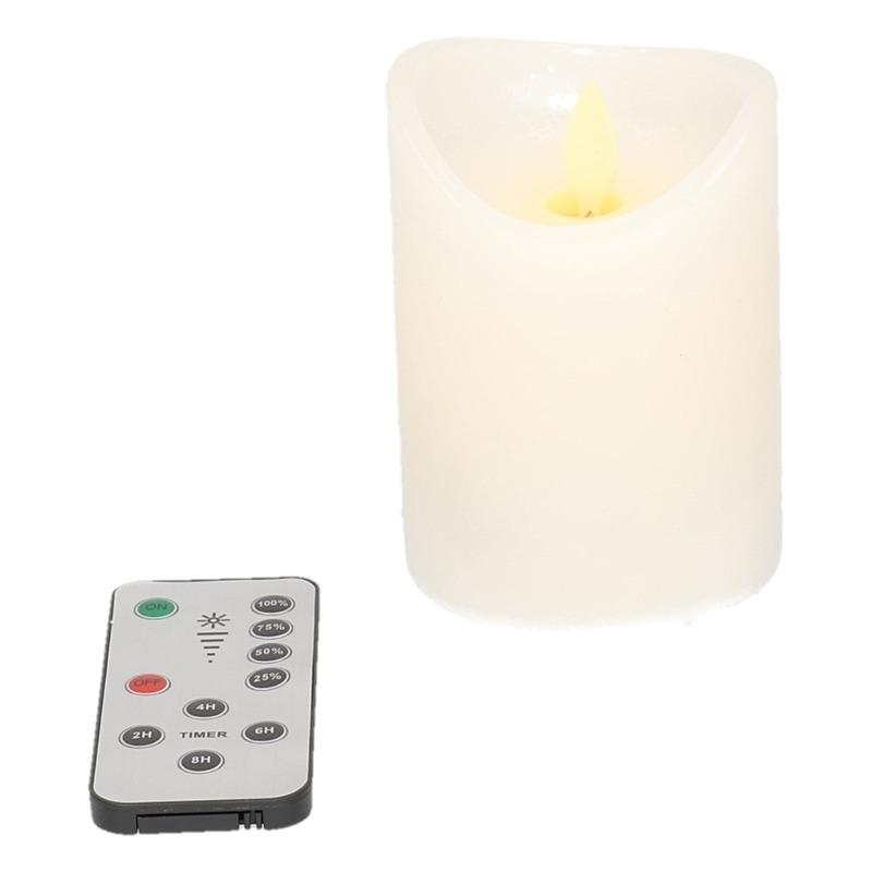 LED kaarsen-stompkaarsen set van 4 met timer en dimmer