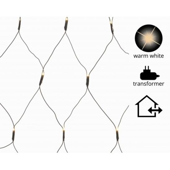LED netverlichting warm wit buiten 100 x 260 cm