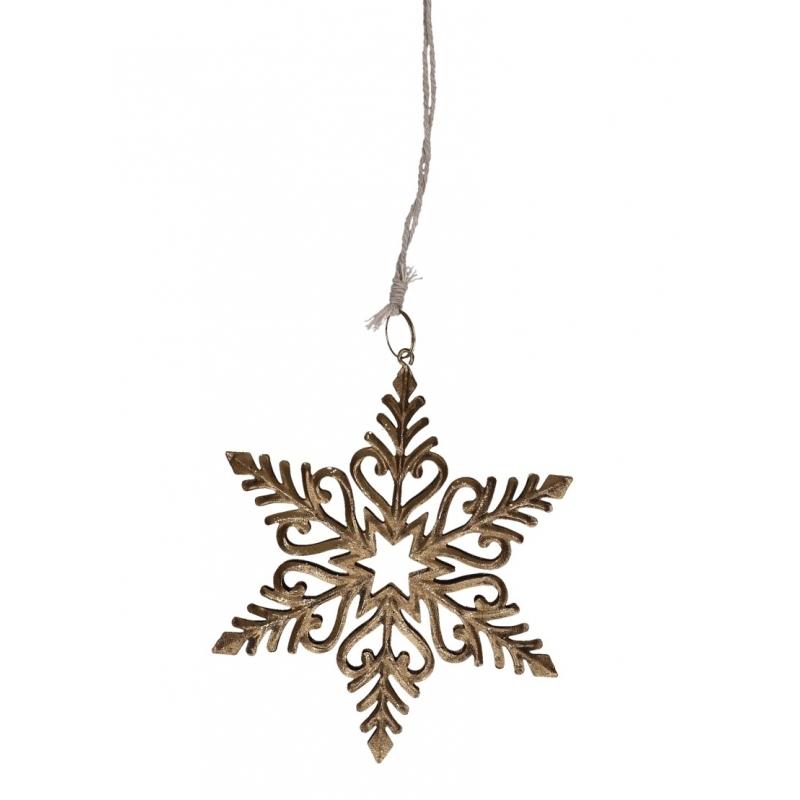 Metalen sneeuwvlok hanger