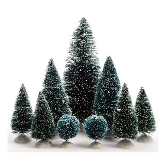Miniatuur boompjes 9 stuks