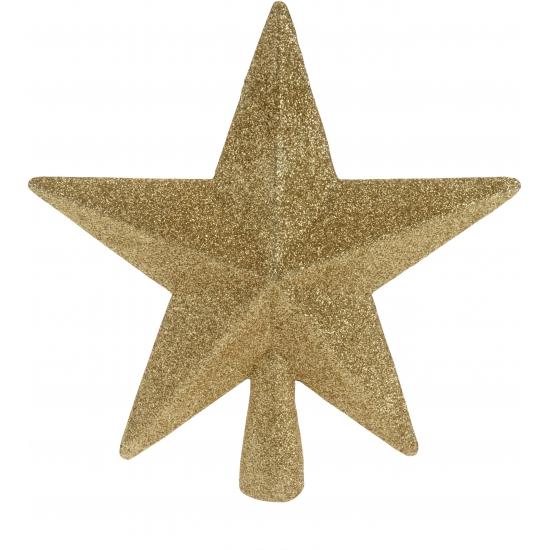 Piek ster goud met glitters 19 cm